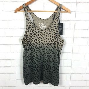 NEW Chaser Leopard Distressed Tank Top